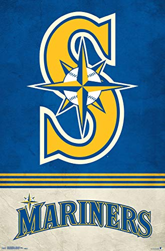 (Trends International Seattle Mariners - Retro Logo Wall Poster, 22.375