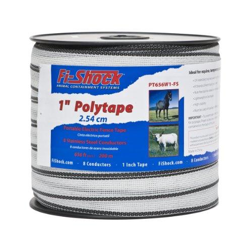 Fi-Shock PT656W1-FS 656-Feet Polytape, 1-Inch (Poly Fence)