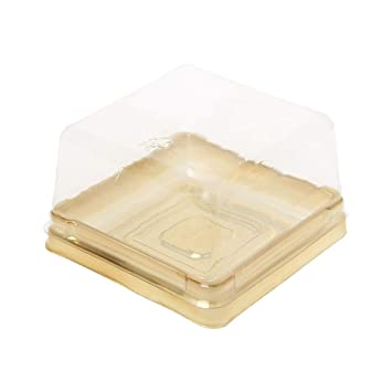 Yasheep - Bandejas cuadradas para tartas, 80 g, 50 unidades, 2,64