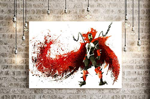 Todd Abstract Painting - Spawn original splatter painting