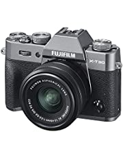 Fujifilm X-T30 Mirrorless Digital Camera w/XC15-45mm Kit - Charcoal Silver