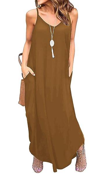 Amazon.com: YONYWA - Vestido sin mangas para mujer con ...
