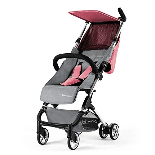 SpringBuds Babyyoya Portable Mini Pocket Umbrella Pushchair LightweightFoldableBaby Stroller Toddler Travel Buggy (Flax Pink)