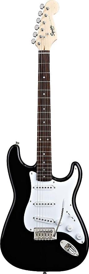 Fender Squier Bullet Strat with Tremolo Electric Guitar, Rosewood Neck,  Black