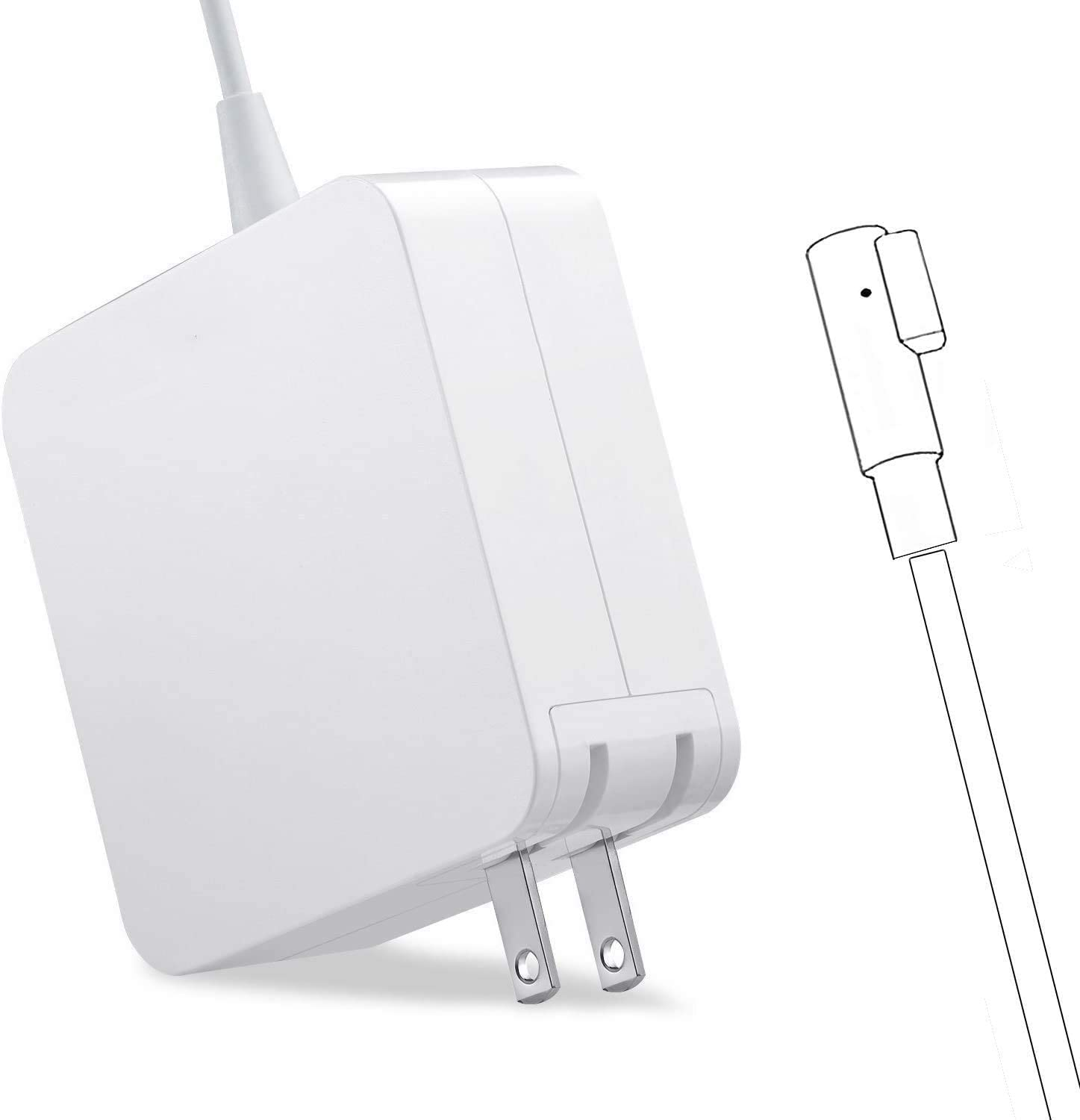Charger for Mac Book Pro, AC 60W Power Adapter Magnetic Connector Charger for Mac Book Pro 13-inch(Before Mid 2012 Models) White