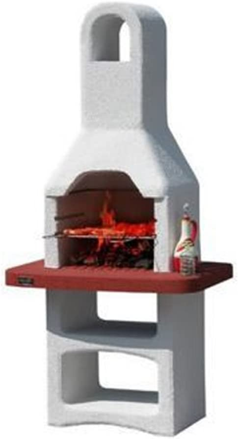 MCZ barbacoa bbq de mampostería a carbón vegetal parrilla ajustable campana extractora exterior 57576: Amazon.es: Jardín