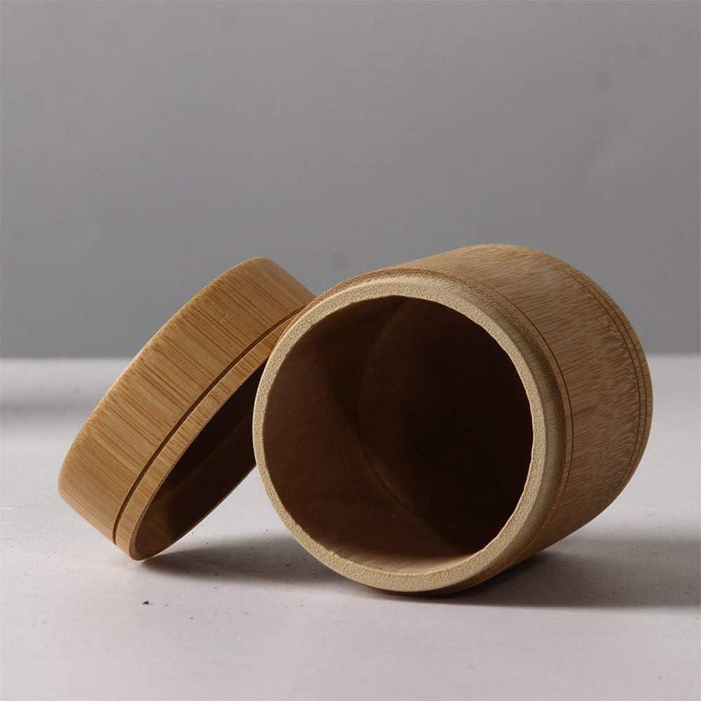 IHOMYIPET Bambus-Tee-Kanister 5.5*15cm runde Form handgemachte Tee-Box Tube kann Jar tragbare Reise-Tee-Kanister Decken Lagerung Inhaber Sticks Weihrauch Brenner Box Spice Box