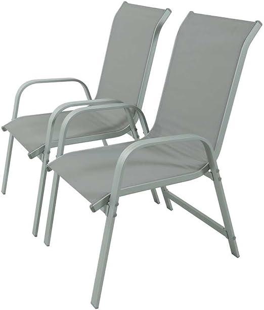 Juego de sillas para jardin textileno Porto- Phoenix - gris claro: Amazon.es: Jardín