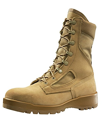 Belleville - 300 DES ST- Hot Weather Tan Safety Toe Boot - 9R (Safety Boot Toe Tan)