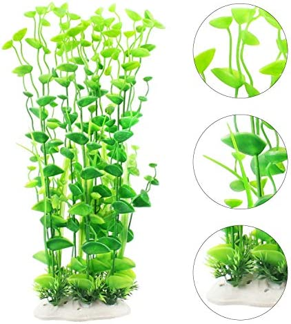 MyLifeUNIT Fish Tank Plants, Artificial Aquarium Decorations Large Plastic Plants (Pack of 7)