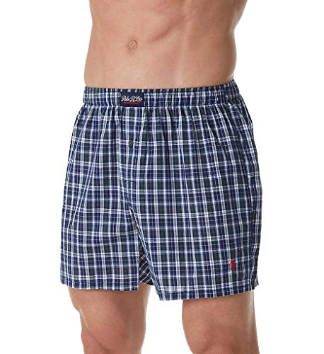 (Polo Ralph Lauren 100% Cotton Classic Plaid Woven Boxer (L104HR) M/Weston Plaid)