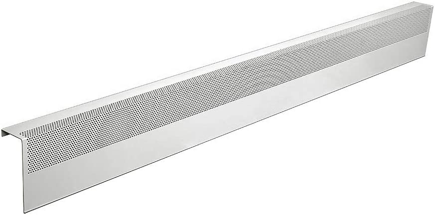 Baseboarders Basic Series Galvanized Steel Easy Slip-On Baseboard Heater Cover in White (5 ft, Cover, No Accessory)