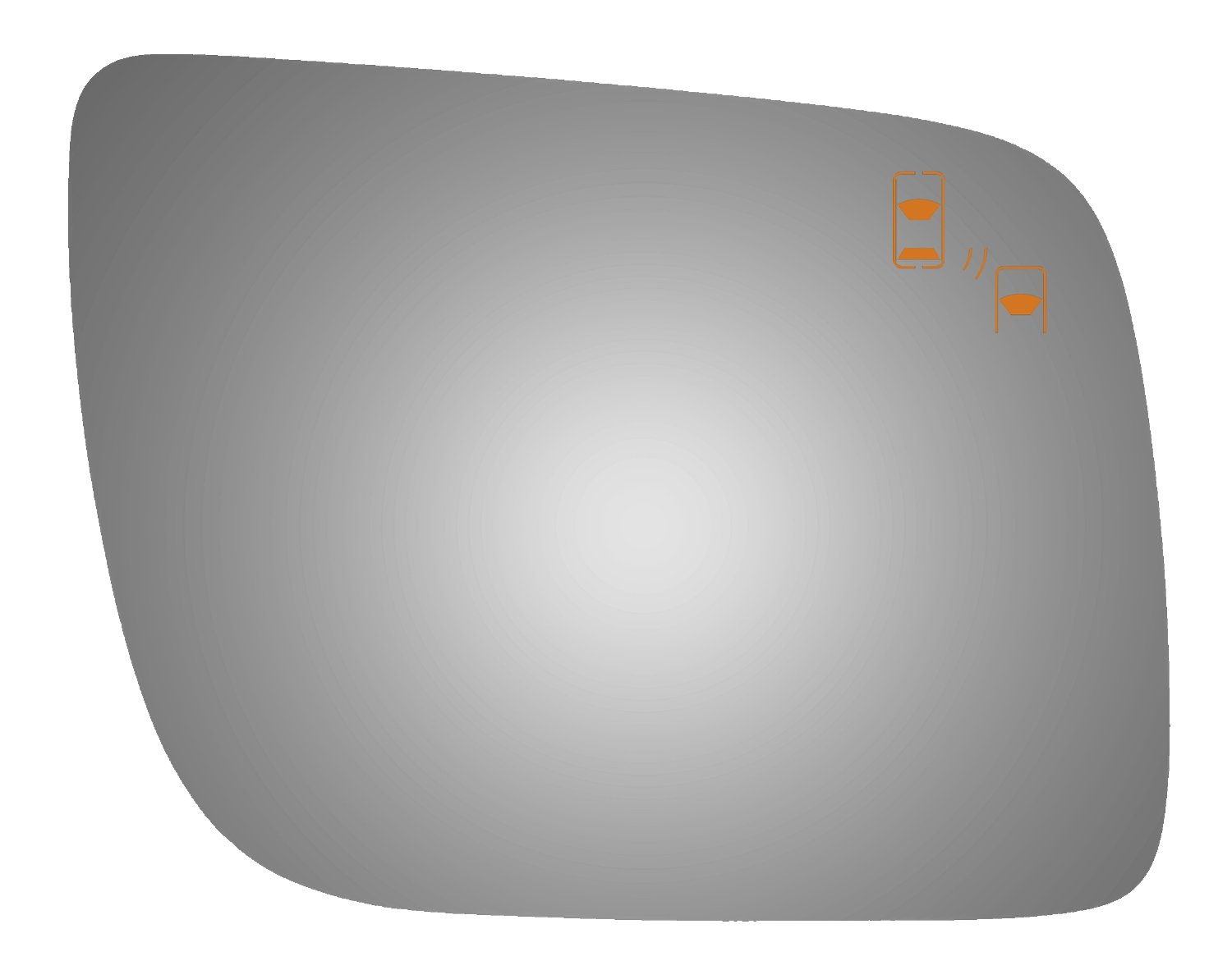 Burco 5484B Convex Passenger Side Power Replacement Mirror Glass for 11-16 Ford Explorer (2011, 2012, 2013, 2014, 2015, 2016)