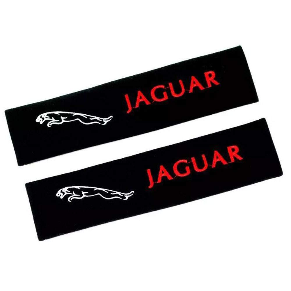 Fitracker 1 Pair Car Seat Belt Shoulder Pads Embroidery Strap Covers Cushion with Car Logo
