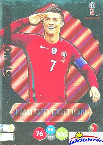 Russia Card (Cristiano Ronaldo Portugal 2018 Panini Adrenalyn XL WORLD CUP RUSSIA EXCLUSIVE LIMITED EDITION Card! Awesome Special Great Looking Card Imported from Europe! Shipped in Ultra Pro Top Loader! WOWZZER!)