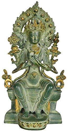 (Tibetan Buddhist Deity Maitreya - The Future Buddha - Brass)