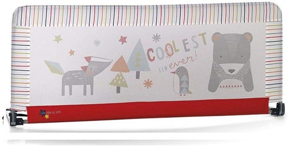 Jané - Barrera de seguridad para cama (130 x 55 cm.) estampado rayas multicolor/rojo