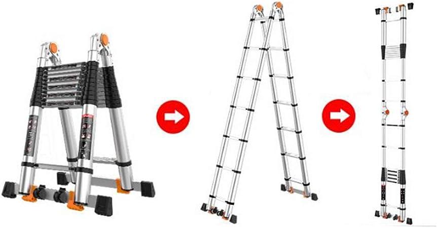 XEWNEG Multifuncional Escaleras Telescópicas De Aluminio, Plegable Escalera Tipo A, Escalera De Extensión De Servicio Pesado para Exteriores Portátil Loft De Ingeniería (Size : 3+3M=6M(19.7FT)): Amazon.es: Hogar