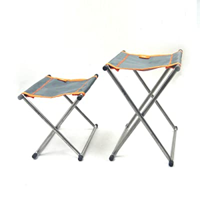 TiTo Outdoor Camping Titanium Folding Chair Stool only 185g(Large) : Sports & Outdoors