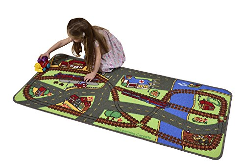Learning Carpets Let's Hop On The Train Play Carpet, 27 x 60