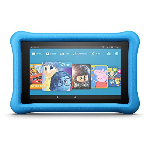 Fire HD 8 Kids Edition Tablet, 8' Display, 32 GB, Blue Kid-Proof Case (Previous Generation - 7th)