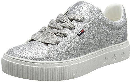 Hilfiger Sneaker Tommy Glitter Basse silver Da Argento Donna Jeans 901 Scarpe Denim Ginnastica BqIUOwrB