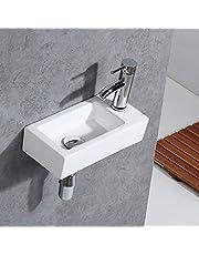 Gimify Bathroom Corner Wall Mount Sink Ceramic