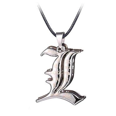 Neu Death Note Halskette Kette Necklace mit L Anhänger Cosplay