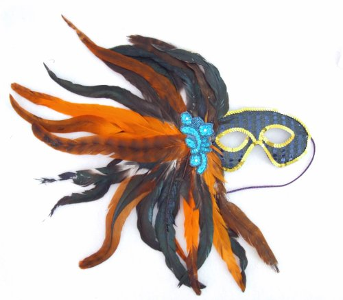 French Quarter Night Masquerade Ball Party Mask Feather Costume Halloween Prom -