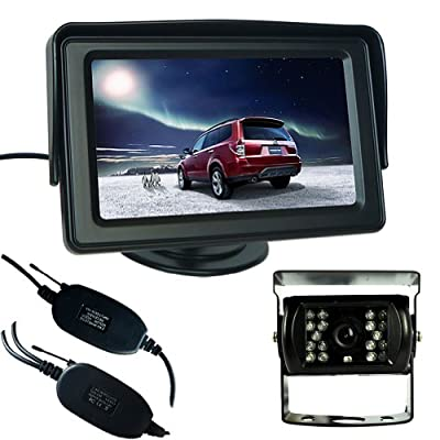 "Generic Wireless Car Reversing Rear View CCD Camera Parking Kit + 4.3"" LCD TFT Monitor"