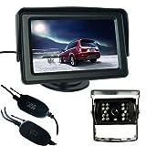 Buyee 43 LCD TFT Monitor Wireless Car Bus Rear View Reversing System CCD Camera Parking Kit