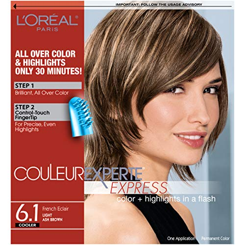 (L'Oreal Paris Couleur Experte Color + Highlights in a Flash, Light Ash Brown - French Éclair )