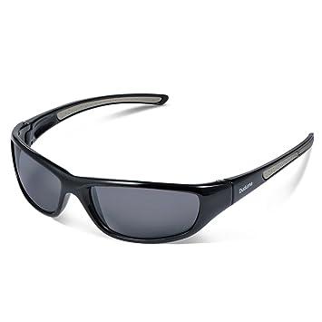 ca39f7e3366 Duduma Tr8116 Polarized Sports Sunglasses for Baseball Cycling Fishing Golf  Superlight Frame (black frame with