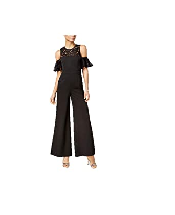 Amazoncom Fame And Partners The Carnation Lace Trim Jumpsuit Clothing