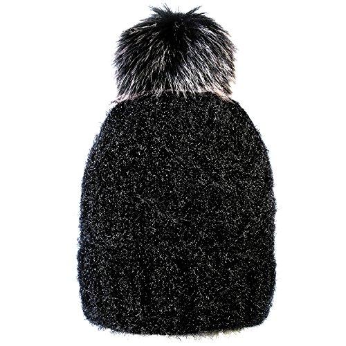 HIG Women's Winter Knitted hat Beanie Plushy Winter Ski Cap Hats