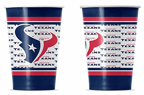 NFL Houston Texans Disposable Paper Cups - Outlets Texas Houston