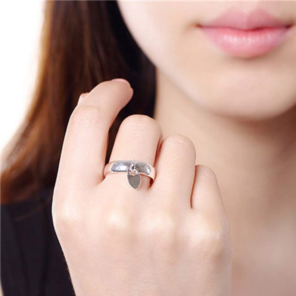super1798 Fashion Silver Plated Heart Lock Engagement Promise Ring Charming Luxury Gift - 7 by super1798 (Image #2)