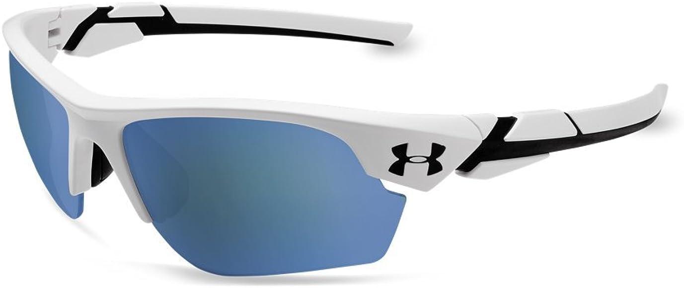 75032334f0 Boys Wrap UA Windup Satin White/Black Frame/Baseball Tuned Lens, YOUTH