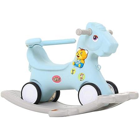 Cavallo A Dondolo Con Ruote.Rocking Horse Baby 2 In 1 Cavallo A Dondolo Con Ruote Per Bambini