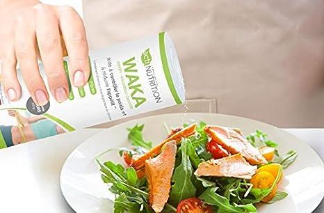 MODERADOR DE APETITO EN POLVO | FABRICADO EN FRANCIA | Wakame + cromo | Potente supresor del apetito | Regula la glucemia | 45 g de proteínas y 45 g de ...