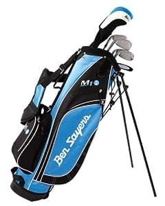 Ben Sayers M1i - Juego de palos de golf para diestros (mango de grafito, estándar), color negro y azul claro
