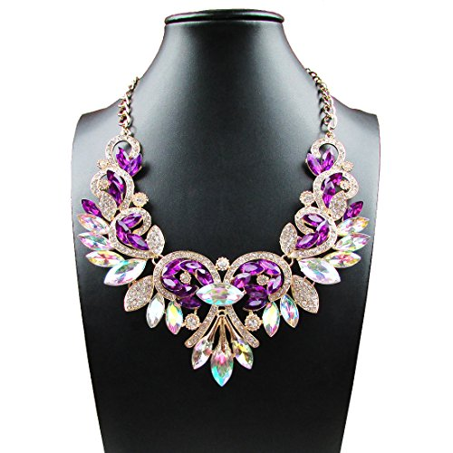 Fashion Jewelry Crystal Statement Necklace