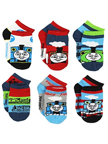 Apparel Train (Thomas Train Boys 6 pack Socks (4-6 Toddler (Shoe: 7-10), White/Navy/Multi))