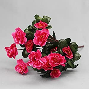 CLG-FLY Artificial Flower Bright Color Rhododendron Silk Flower for Wedding and Decorative792 6