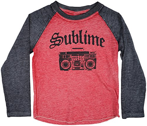 Toddlers Sublime Raglan Top Red Charcoal 5T