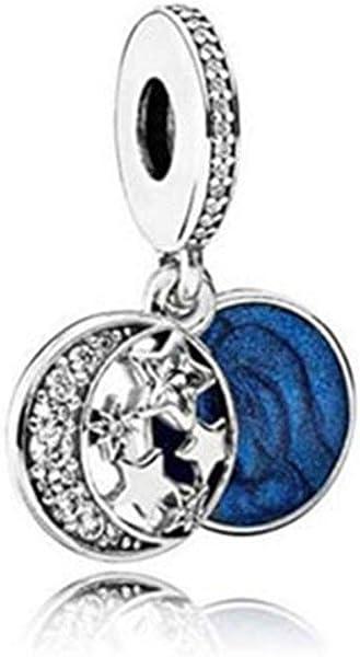 05948bc261e30 fit Pandora Charms Bracelets Night Sky Charm I Love You to The Moon and  Back Charms