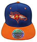 Colorado Flag Bronco. Snap Back Hat. ROYAL/ORANGE. CO PRM