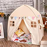 love tree Kids Indoor Princess Castle Play Tents,Outdoor Large Playhouse Secret Garden Play Tent - Portable for Indoor and Outdoor Fun Plays Beige One