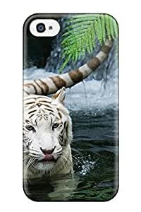 ElsieJM Case Cover For Iphone 4/4s - Retailer Packaging White Tiger Waterfalls Protective Case