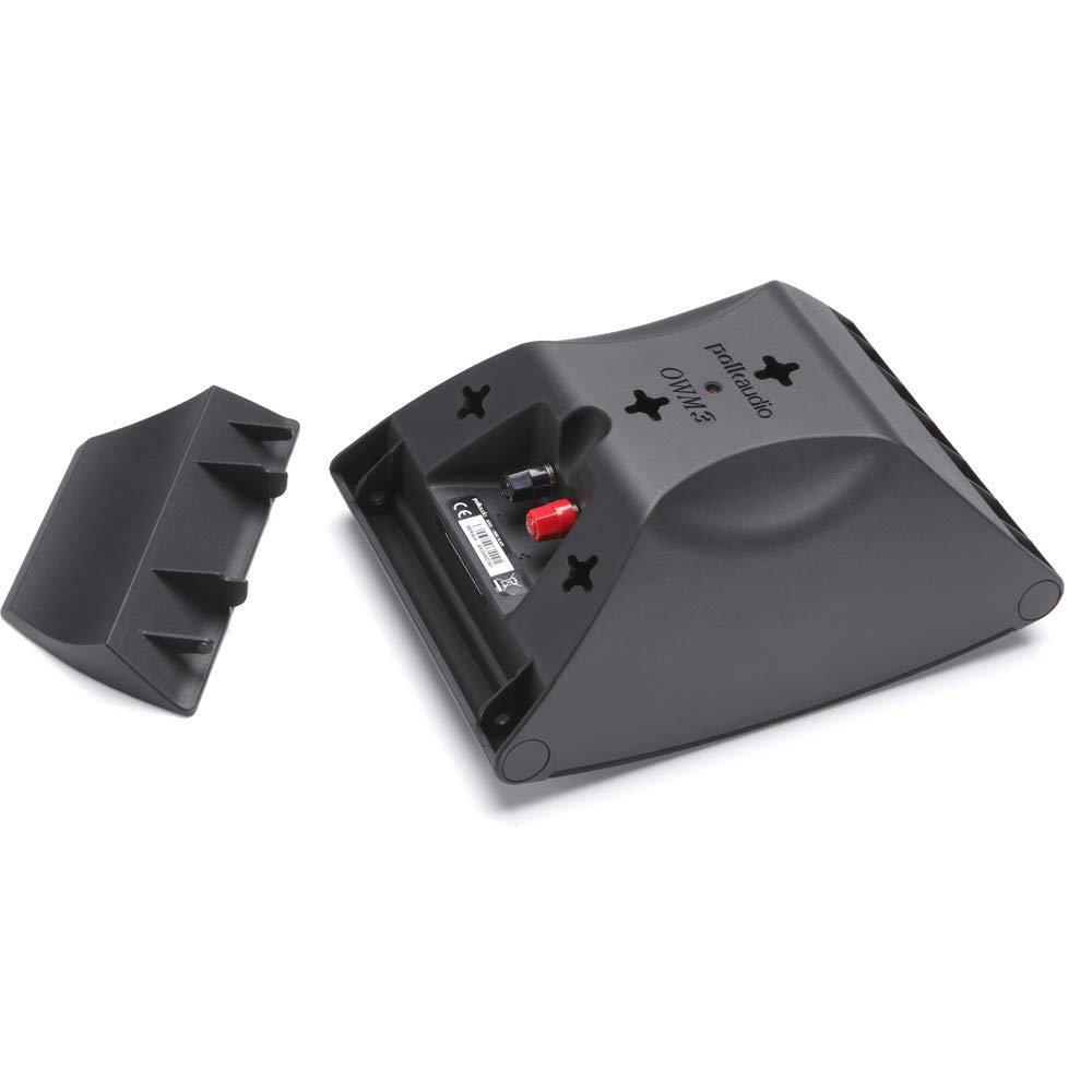 Polk Audio OWM3 Altavoces de pared y estantería | El altavoz versátil de más alto rendimiento | Rejillas pintables (par, negro)